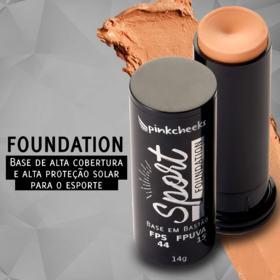 Base em Bastão Pink Cheeks - Sport Make Up Foundation - Claro