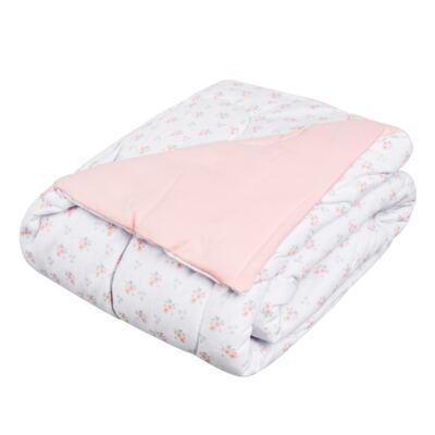 Imagem 1 do produto Edredom para berço em suedine Little Pink Flowers - Anjos Baby