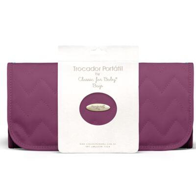 Imagem 1 do produto Trocador Portátil para bebe Chevron Ametista - Classic for Baby Bags