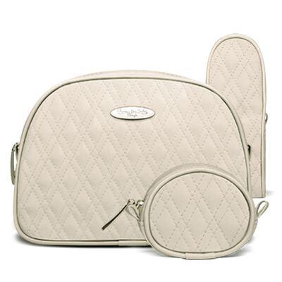 Imagem 1 do produto Kit Acessórios para bebe: 01 Necessaire + 01 Porta Chupeta + 01 Porta Mamadeira  Golden Koala Caqui - Classic for Baby Bags