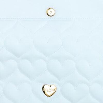 Imagem 4 do produto Trocador Portátil para bebe Corações Matelassê Azul - Classic for Baby Bags