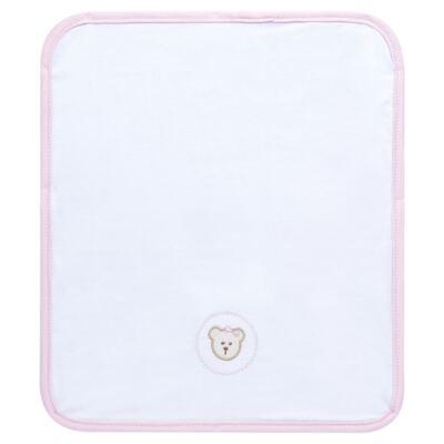 Imagem 2 do produto Kit com 3 fraldinhas de boca para bebe em malha Pink Teddy Bear - Hey Baby