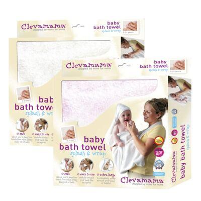Kit: 2 Toalhas Mamãe Bebê com capuz Branca e Rosa - Clevamama