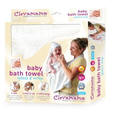 Imagem 2 do produto Kit: 2 Toalhas Mamãe Bebê com capuz Branca e Rosa - Clevamama