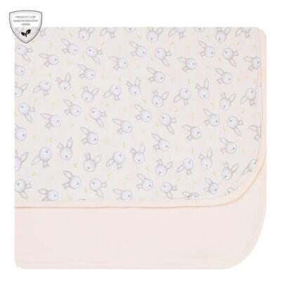 Imagem 1 do produto Manta para bebe em suedine Baby Calm Coelhinha - Nano Protect
