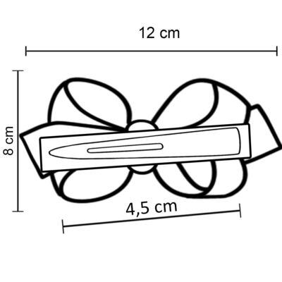 Imagem 3 do produto Presilha Maxi Laço em gorgurão Pérolas Vinho - Roana