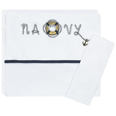 Imagem 1 do produto Jogo de lençol para berço em malha Hippo Sailor - Classic for Baby
