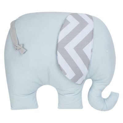 Almofada para bebe Elefantinho Brooklyn Azul - Biramar Baby