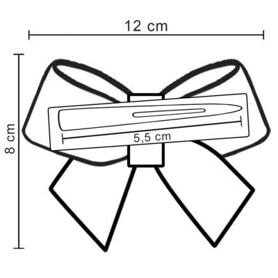 Imagem 3 do produto Presilha Laço Cetim Pérolas Rosê - Roana