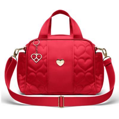 Imagem 1 do produto Bolsa Térmica para bebe Santiago Corações Matelassê Vermelha - Classic for Baby Bags