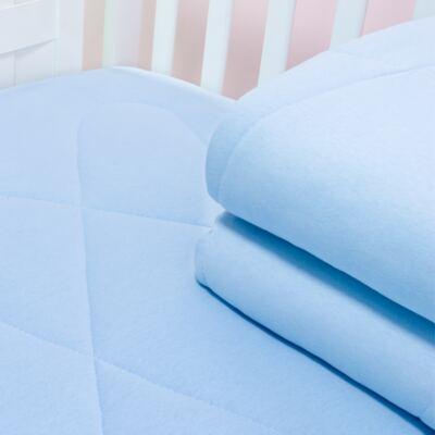 Imagem 1 do produto Edredom para berço em malha Azul - Biramar Baby