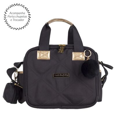 Imagem 1 do produto Bolsa térmica organizadora para bebe  Soho Black - Masterbag