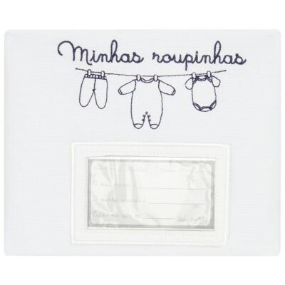 Imagem 2 do produto Kit 3 Saquinhos para maternidade Minhas Roupinhas Marinho - Classic for Baby
