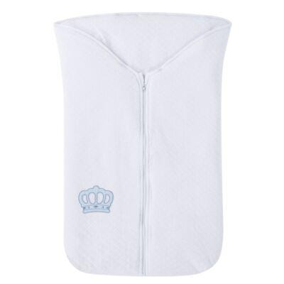 Saco de dormir para bebe em suedine matelassado Coroa Azul - Petit