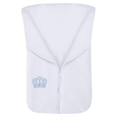 Imagem 2 do produto Saco de dormir para bebe em suedine matelassado Coroa Azul - Petit