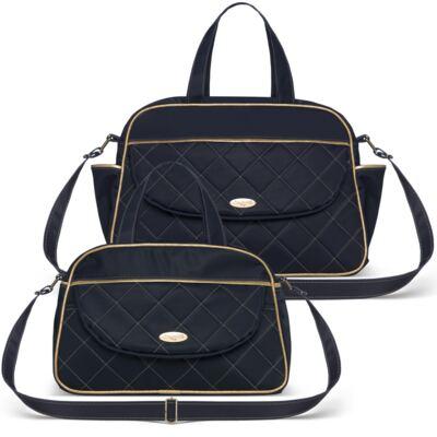 Imagem 1 do produto Bolsa + Frasqueira para Bebê Mosaic Marinho - Classic for Baby Bags