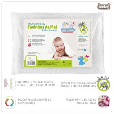 Imagem 2 do produto Travesseiro Favinhos de Mel Baby Antissufocante - Fibrasca