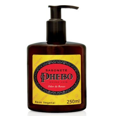 Imagem 2 do produto Sabonete Líquido Phebo Odor de Rosas 250ml 2 Unidades + Sabonete Phebo Odor de Rosas 90g