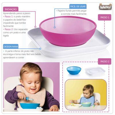 Imagem 2 do produto Baby's Bowl & Plate Neutral (6m+) - MAM