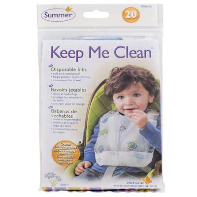 Babador descartável Keep Me Clean Summer 20 unidades (6m+) - Girotondo Baby