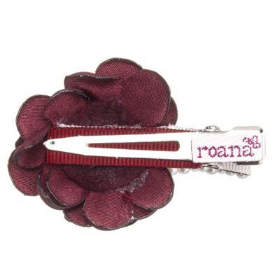 Imagem 2 do produto Presilha Mini Flores Pérolas & Strass Bordô - Roana