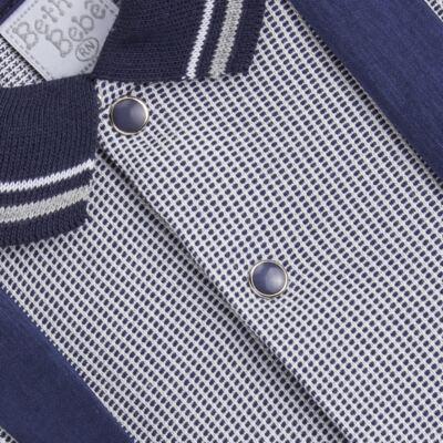 Imagem 3 do produto Jogo Maternidade para bebê: Macacão Suspensório e Manta em suedine Benjamin - Beth Bebê