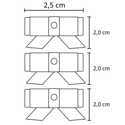 Imagem 2 do produto Kit: 3 Laços adesivos em gorgurão Branco - Roana