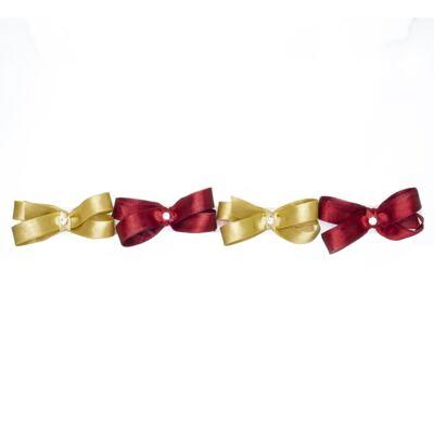 Imagem 1 do produto Kit: 4 Maxi Laços adesivos Dourado/Bordô - Roana