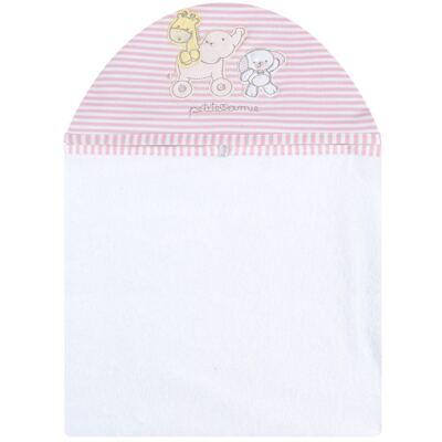 Imagem 1 do produto Toalha com capuz para bebe Elefantinha - Classic for Baby