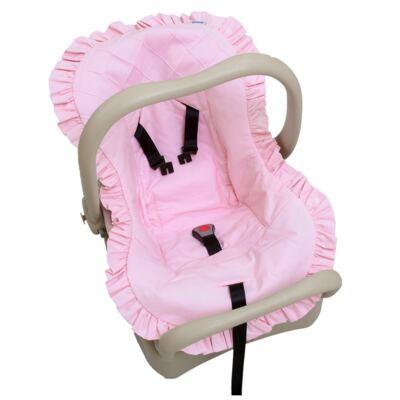 Capa para bebê conforto em percal Rosa - Biramar Baby