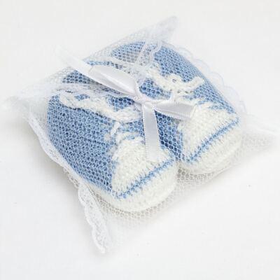Imagem 3 do produto Tênis em tricot Azul/Branco - Roana