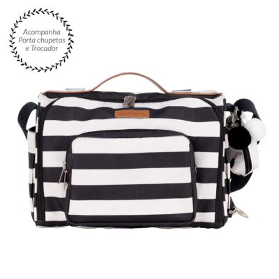 Bolsa para bebe 2 em 1 Julie Brooklyn Black and White - Masterbag