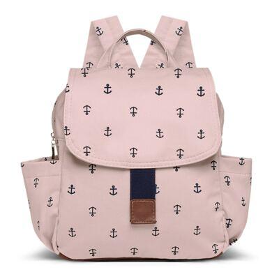 Mochila maternidade Classic em sarja Navy Rosa - Classic for Baby Bags