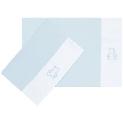 Kit 2 Fronhas em malha Azul - Classic for Baby