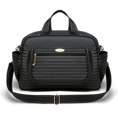 Imagem 1 do produto Bolsa maternidade para bebe Sevilha Golden Preto - Classic for Baby Bags