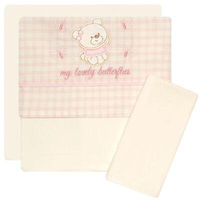 Imagem 1 do produto Jogo de lençol para carrinho em malha Butterflies - Classic for Baby