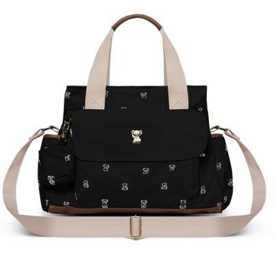 Imagem 1 do produto Bolsa para bebe Lisboa em sarja preta Koala Baby - Classic for Baby Bags