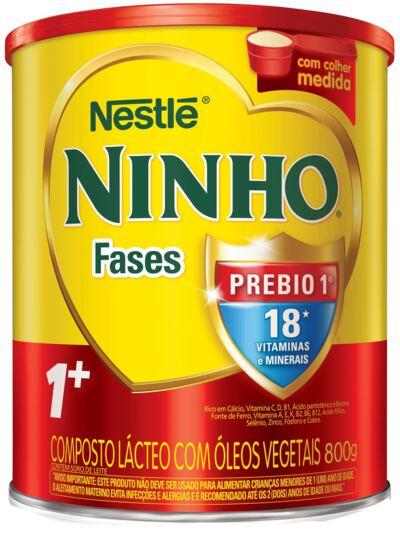 Imagem 1 do produto Composto Lácteo Nestlé Ninho Fases 1+ Lata 800g