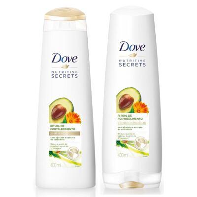 Imagem 1 do produto Kit Dove Ritual de Fortalecimento Shampoo + Condicionador 400ml