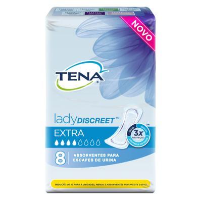 Absorvente Tena - Lady Discreet Extra | 8 unidades
