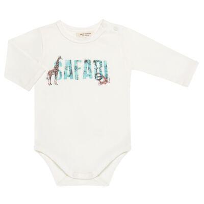 Imagem 2 do produto Body longo c/ Calça (Mijão) para bebe em viscomfort Safari - Petit - 17064308 CJ BODY M/L MIJAO PE REV COTTON/VIS SAFARI-GG