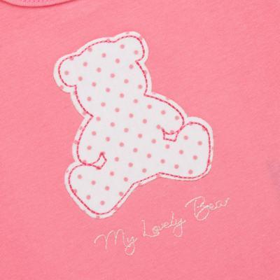 Imagem 3 do produto Regata com Cobre fralda para bebe em suedine My Lovely Bear- Vicky Lipe - 18231281.202 REGATA COBRE FRALDA MALHA URSINHAS 2-GG