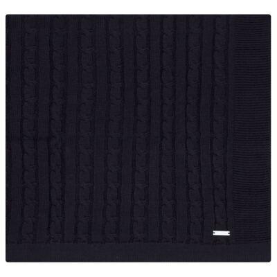 Imagem 1 do produto Manta em tricot Marinho - Baby Classic