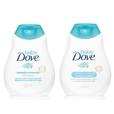 Imagem 2 do produto Kit Dove Baby Hidratação Enriquecida Shampoo 200ml + Condicionador 200ml + Sabonete Líquido Da Cabeça Aos Pés 200ml