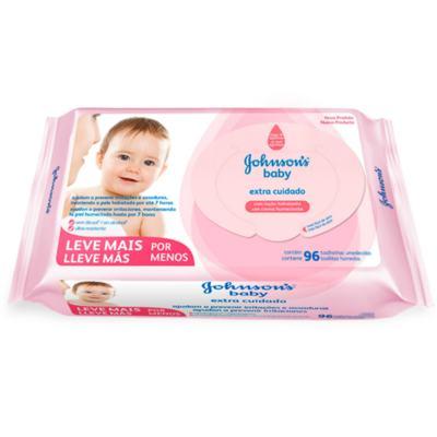 Imagem 1 do produto Lenço Umedecido Johnson´s Baby Extra Cuidado 96 Unidades