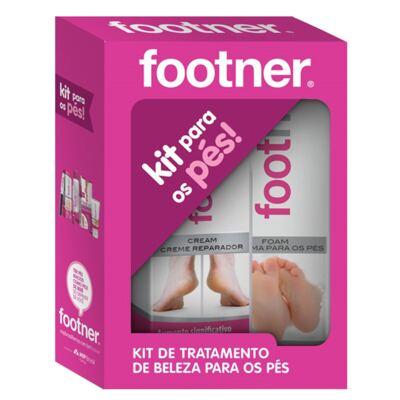Imagem 1 do produto Kit Creme Reparador + Espuma para os Pés Footner - Kit