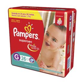 Fralda Pampers Supersec Economica - G | 26 unidades