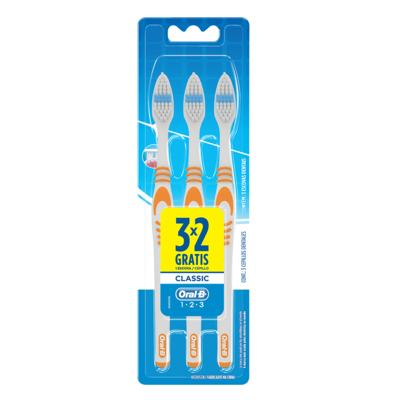 Escova Dental Oral-B Classic 40 Macia 3 Unidades