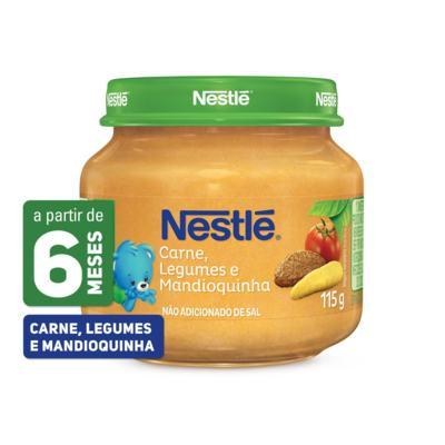 Papinha Nestlé Carne Cenoura Batata Mandioquinha 115g