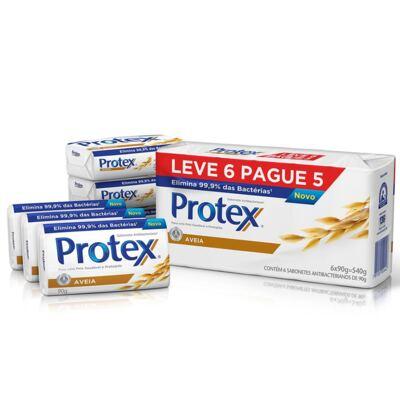 Imagem 1 do produto Sabonete Protex Aveia 90g 6 Unidades